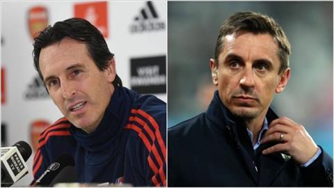 Neville khuyên Arsenal kiên nhẫn với HLV Emery hình ảnh