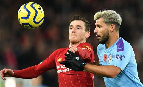 Liverpool vs Man City Robertson Aguero