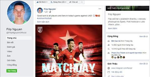 Filip Nguyễn chúc may mắn ĐT Việt Nam trước trận gặp UAE  hình ảnh