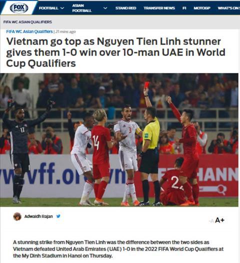 Báo chí châu Á hết lời khen ngợi Việt Nam sau trận thắng UAE hình ảnh 2