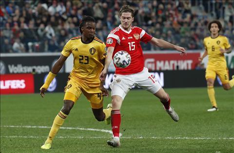 Trận đấu Nga vs Bỉ ở vòng loại EURO 2020 Sự cố nhầm lẫn hài hước hình ảnh