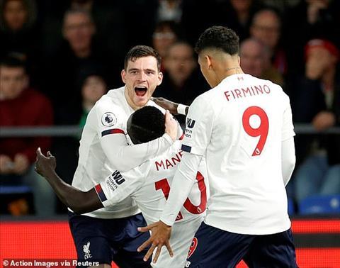 Kết quả Crystal Palace vs Liverpool Robertson tiếp tục kiến tạo hình ảnh