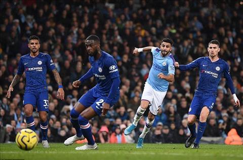 Man City vs Chelsea Mahrez ghi ban 2