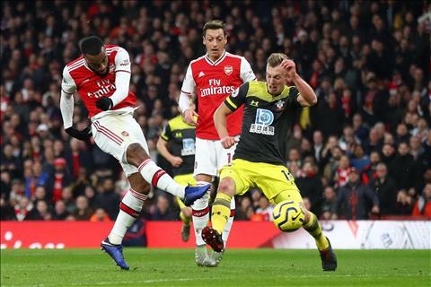 Arsenal 2-2 Southampton Lacazette ghi ban