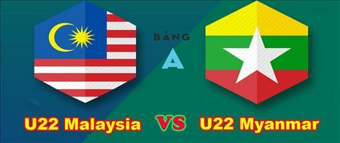 Trực tiếp bóng đá U22 Malaysia vs U22 Myanmar link xem VTV2 hình ảnh