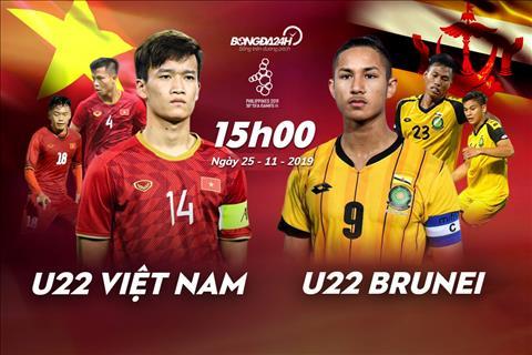 Link xem trực tiếp Sea Games 30 U22 Việt Nam vs U22 Brunei hình ảnh