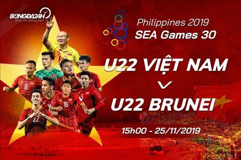 Trực tiếp bóng đá U22 Việt Nam vs U22 Brunei Sea Games 30 hình ảnh