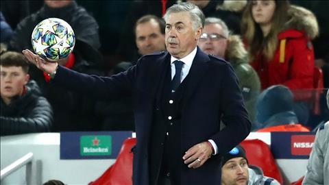 HLV Carlo Ancelotti tran Liverpool 1-1 Napoli