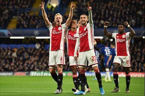 Ajax ghi 4 ban truoc Chelsea