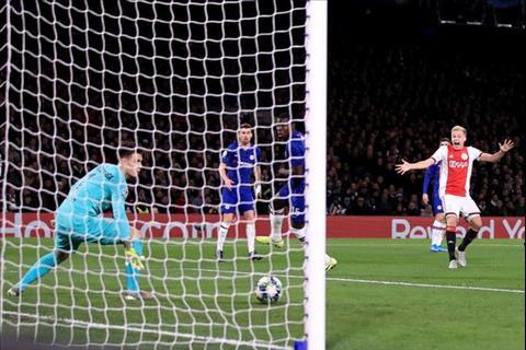 Chelsea 4-4 Ajax Van de Beek ghi ban