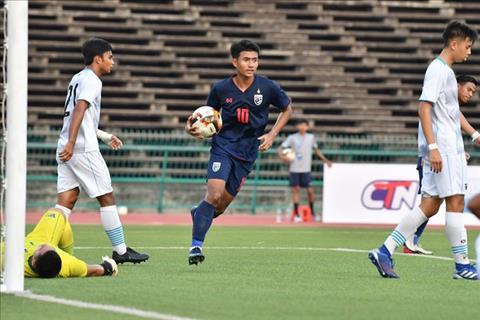 Suphanat dang co 9 ban thang sau 2 luot tran vong loai U19 chau A. Anh: FAT.
