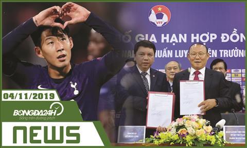 Tin bóng đá tối nay 711 Thầy Park ký hợp đồng thêm 3 năm hình ảnh