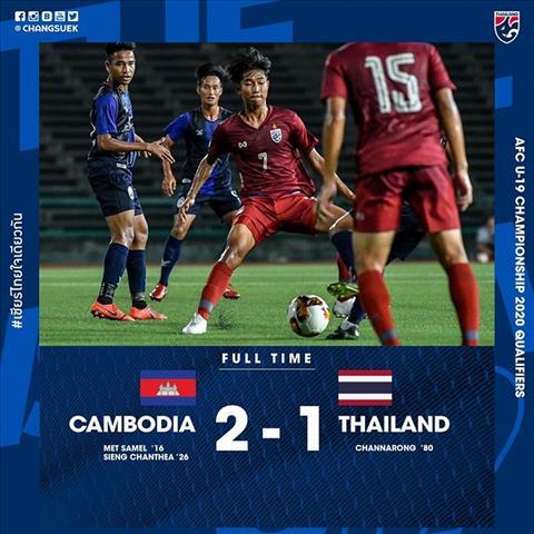 Bàn thắng kết quả U19 Thái Lan vs U19 Campuchia 1-2 hình ảnh