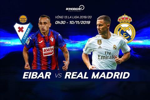 Trực tiếp Eibar vs Real Madrid bóng đá La Liga 2019 hôm nay hình ảnh