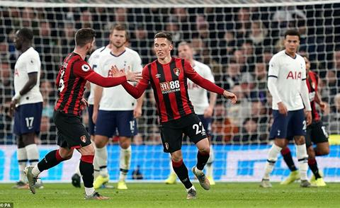 Tottenham nhan 2 ban thua truoc Bournemouth