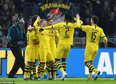 Bàn thắng kết quả Hertha Berlin vs Dortmund 1-2 Bundesliga 2019 hình ảnh