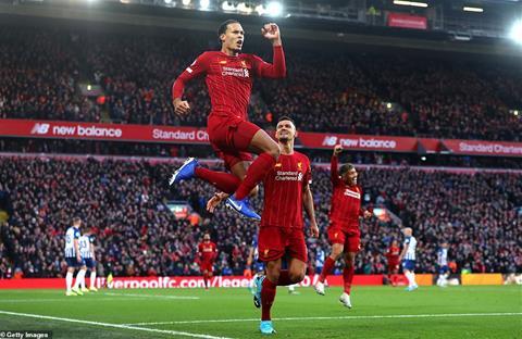 Liverpool 2-1 Brighton Klopp chỉ trích cú sút phạt tinh quái hình ảnh
