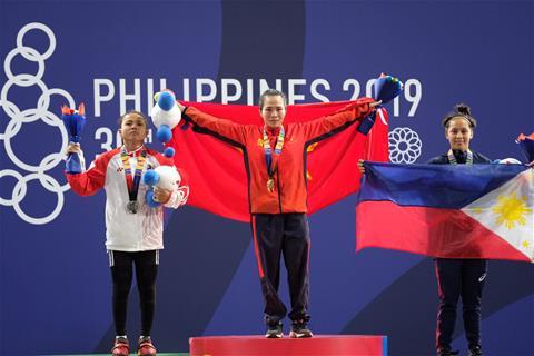 Vương Thị Huyền đoạt HCV SEA Games 30 môn Cử tạ hạng cân 45kg hình ảnh