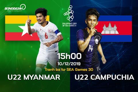 U22 Myanmar vs U22 Campuchia 15h00 ngày 1012 SEA Games 30 hình ảnh
