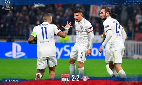 Lyon 2-2 Leipzig