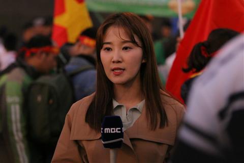 Phong vien dai MBC Han Quoc cung da co mat