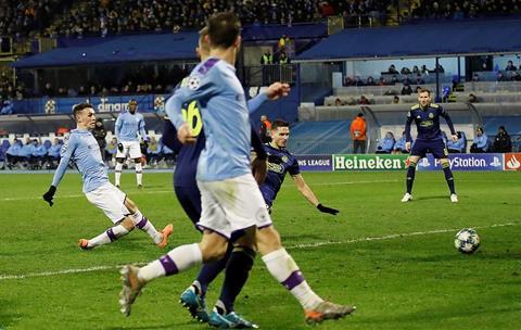 Man City thang Dinamo Foden ghi ban