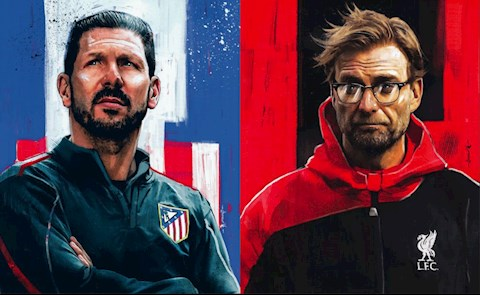Diego Simeone vs Jurgen Klopp: Atletico Madrid vs Liverpool vong 1/8 Champions League