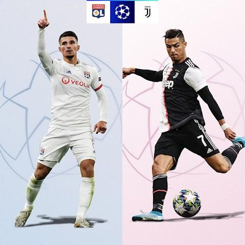 Lyon vs Juventus vòng 18 Champions League 201920 hình ảnh