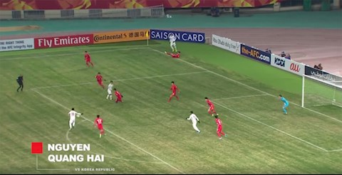 Quang Hai vs U23 Han Quoc VCK 2018