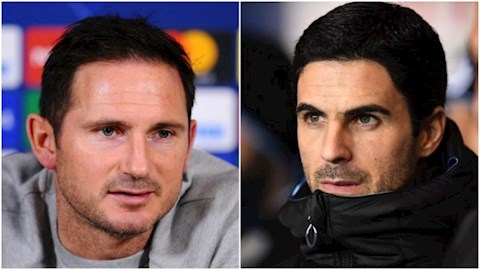 Lampard chia se ve Arteta