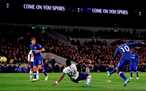 Tottenham vs Chelsea Willian vuot qua Aurier