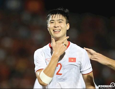 Duy Manh mo ti so trong chien thang 3-0 cua DT Viet Nam khi lam khach cua DT Indonesia tren san khach tai vong loai World Cup 2022.