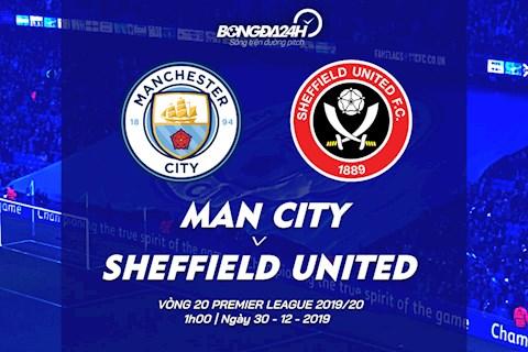 Man City vs Sheffield vong 20 Ngoai hang Anh 2019/20