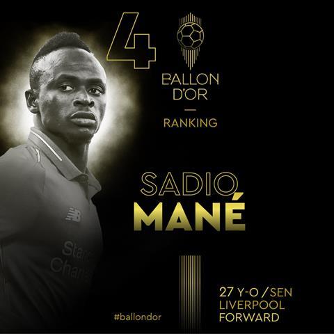 Sadio Mane 'Tôi sẽ cố gắng giành Quả bóng Vàng vào năm sau' hình ảnh