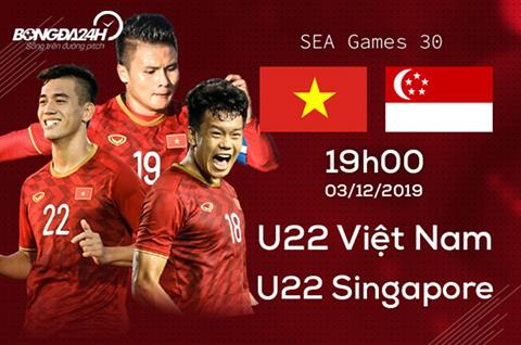 Trực tiếp thông tin trước trận đấu U22 Việt Nam vs U22 Singapore hình ảnh