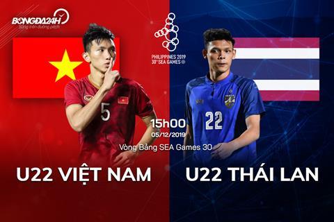 Trực tiếp bóng đá U22 Việt Nam vs U22 Thái Lan SEA Games 30 hình ảnh