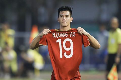Video bóng đá U22 Việt Nam vs U22 Thái Lan Tiến Linh gỡ hòa hình ảnh