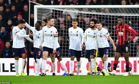 Bournemouth 0-3 Liverpool Klopp vui vì trận thắng sạch lưới hiếm hình ảnh