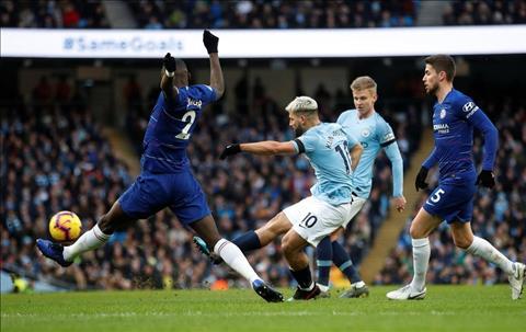 Aguero lap sieu pham tran Man City 6-0 Chelsea