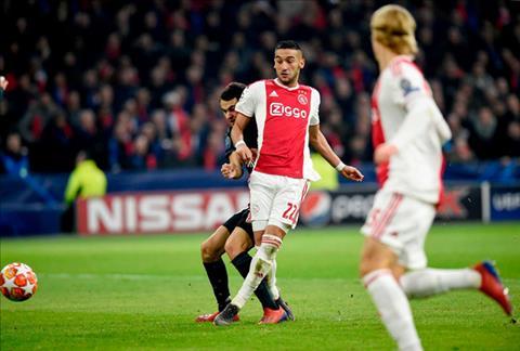 Ajax da choi khong te nhung chi ghi duoc 1 ban duy nhat nho cong cua Ziyech (so 22)