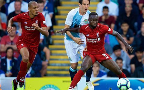 Fabinho va Naby Keita dang dan chung to minh o Liverpool