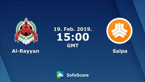 Trandau.net nhận định Al Rayyan vs Saipa 22h00 ngày 19/2 (AFC Champions League 2019)