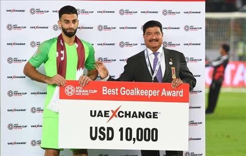 Thủ thành Qatar tạo kỷ lục giữ sạch lưới ở Asian Cup 2019 hình ảnh