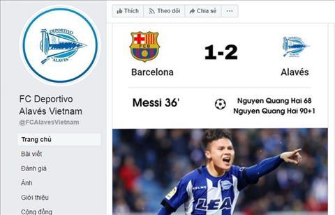 Quang Hai den Alaves va ghi cu dup vao luoi Barcelona?