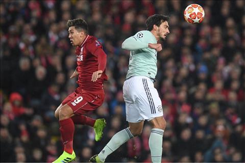 Liverpool vs Bayern Hummels va Firmino