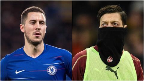 Hazard vs Ozil