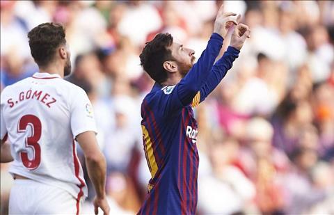 Lionel MEssi lap hat-trick cho Barca