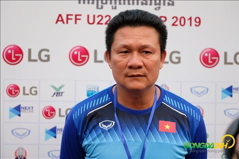 HLV Quốc Tuấn chia sẻ sau trận thắng U22 Campuchia hình ảnh