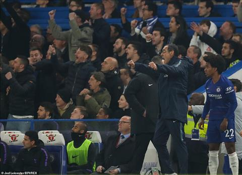 Sarri Chelsea 2-0 Tottenham