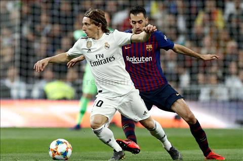 Real vs Barca Modric va Busquets